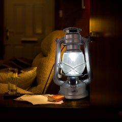 Rustikale dimmbare LED-Laterne, inkl. Batterien