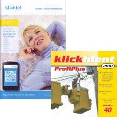 Set: klickTel Frühjahr 2018 + klickIdent ProfiPlus 40