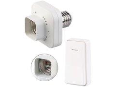 E27-Lampenfassung mit Funk-Taster, max. 60W