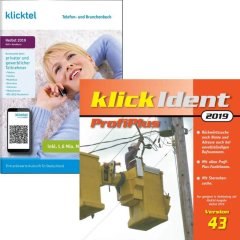 Ausverkaufs-Set: klickTel Herbst 2019 + klickIdent ProfiPlus 43