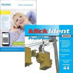 Ausverkaufs-Set: klickTel Frühjahr 2020 + klickIdent ProfiPlus 44