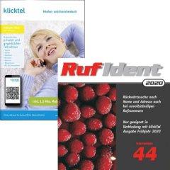 Ausverkaufs-Set: klickTel Frühjahr 2020 + RufIdent 44