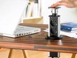 Versenkbare 3-fach Tisch-Steckdosenleiste