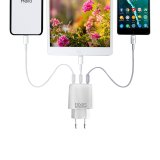3-fach USB-Netzteil mit intelligenter Geräteidentifizierung